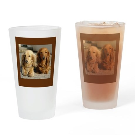 Doxie Pair Drinking Glass