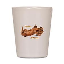 Bellyrub Doxie Shot Glass