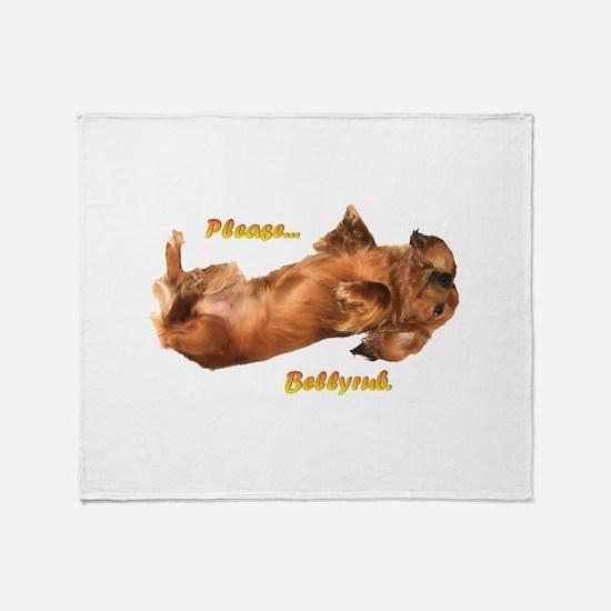 Bellyrub Doxie Throw Blanket