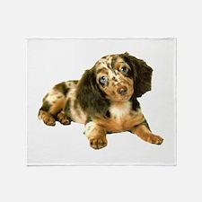 Shy_Low Puppy Throw Blanket