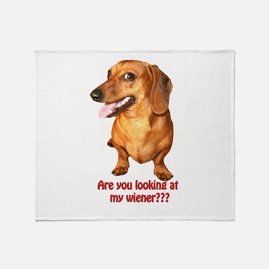 Looking at My Wiener Dachshun Throw Blanket