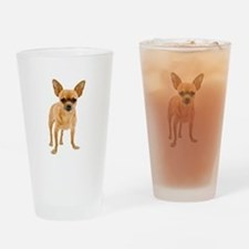 Chihuahua Stand Drinking Glass