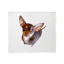 Chihuahua Chocolate Throw Blanket