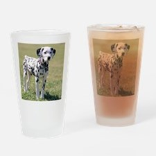 Dalmatian Puppy Drinking Glass