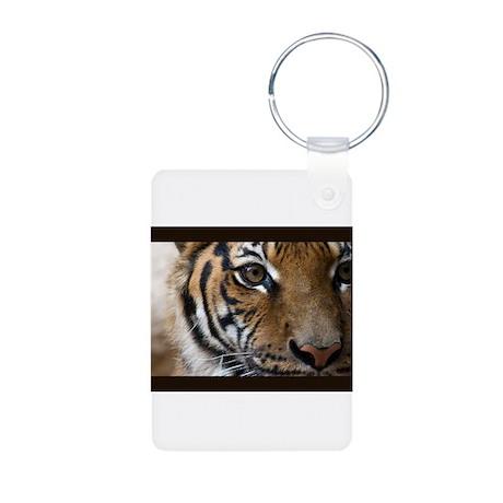 The Tiger's Eye Aluminum Photo Keychain