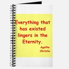 agatha Christie quotes Journal