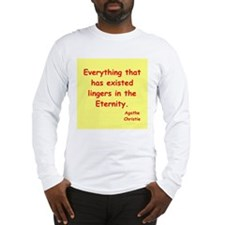 agatha Christie quotes Long Sleeve T-Shirt