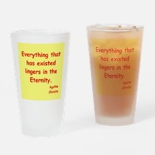 agatha Christie quotes Drinking Glass