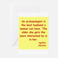 agatha Christie quotes Greeting Cards (Pk of 20)