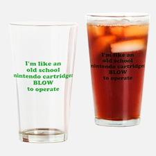 I'm like an old school ninten Drinking Glass