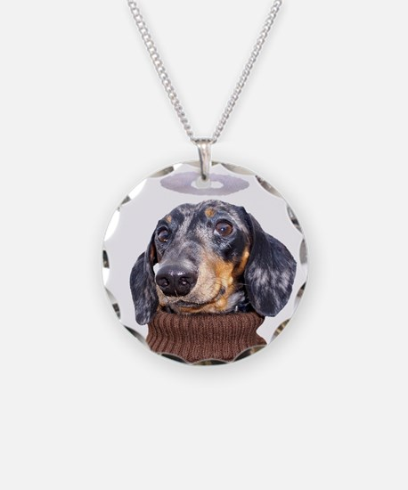 Angel Spotted Doxie Necklace