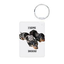 I Love Doxies Keychains