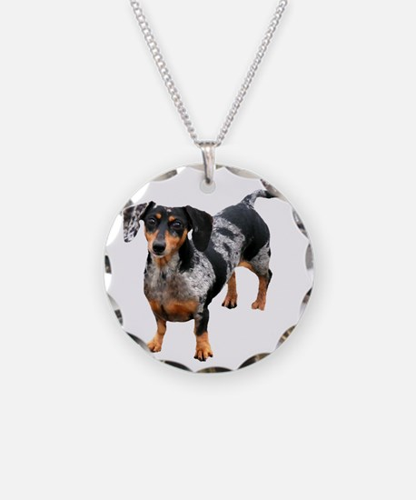 Spotted Doxie Necklace