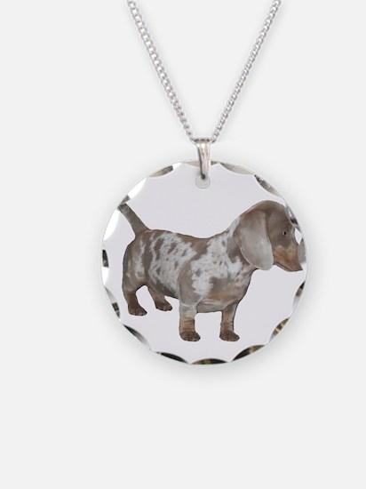 Speckled Dachshund Dog Necklace