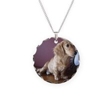 Cream Doxie Necklace