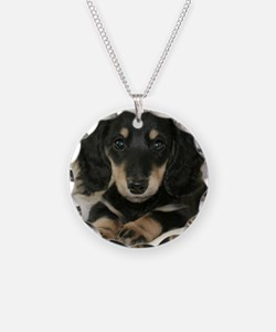 Long Haired Puppy Necklace