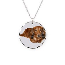 Long Hair Red Dachshund Necklace