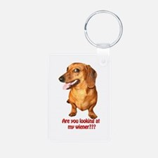 Looking at My Wiener Dachshun Keychains