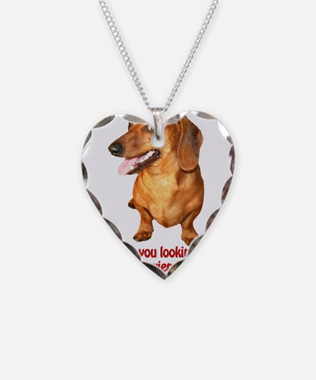 Looking at My Wiener Dachshun Necklace