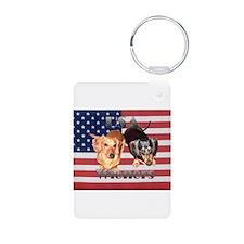 USA Wieners Aluminum Photo Keychain