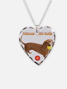 Wiener with Balls Necklace