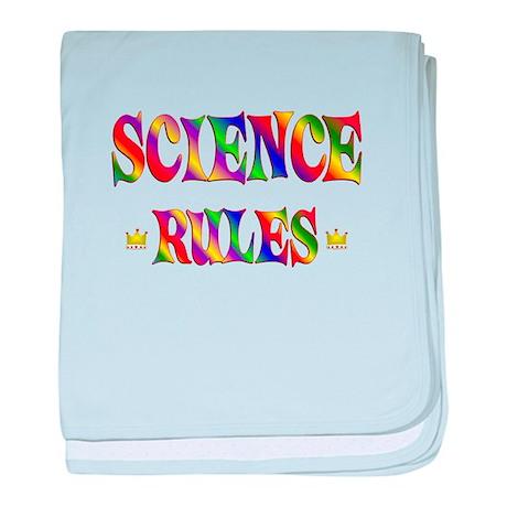 Science Rules baby blanket