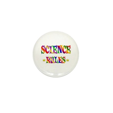 Science Rules Mini Button (10 pack)