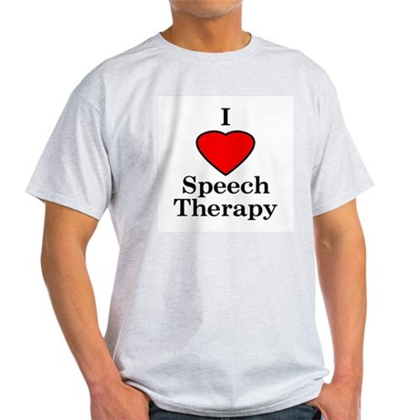 I Luv Speech Therapy Ash Grey T-Shirt