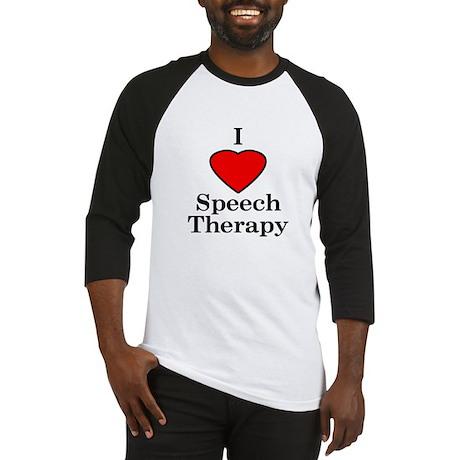 I Luv Speech Therapy Baseball Jersey