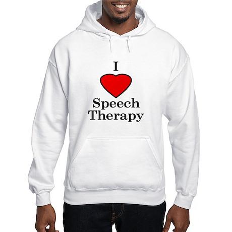 I Luv Speech Therapy Hooded Sweatshirt