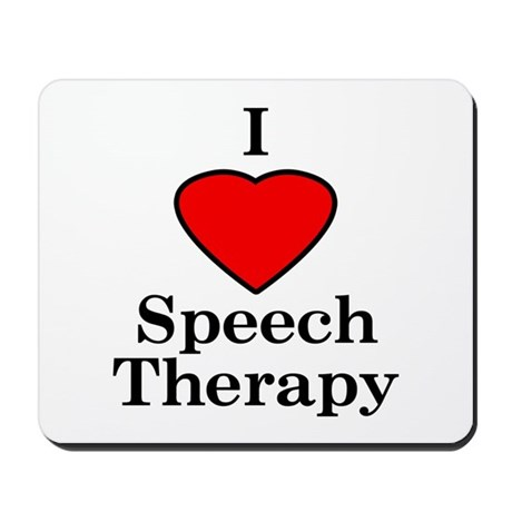 I Luv Speech Therapy Mousepad