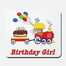 Birthday Train - Girl Mousepad