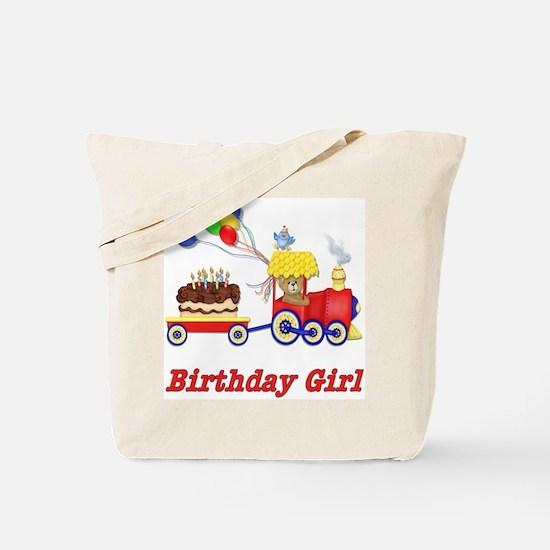 Birthday Train - Girl Tote Bag