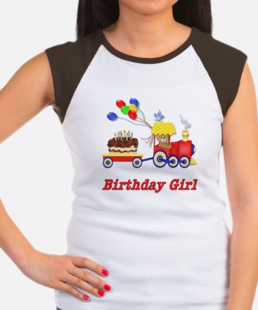 Birthday Train - Girl Women's Cap Sleeve T-Shirt