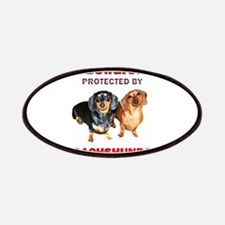 Protected By Dachshunds Patches
