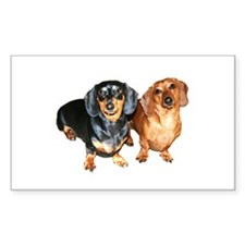 Double Dachshund Dogs Decal