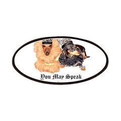 King and Queen Dachshund Dogs Patches
