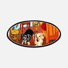 Double Dachshunds Van Gogh Patches