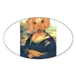 Mona Dachshund Sticker (Oval 10 pk)