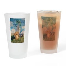 Walk Doxies Drinking Glass