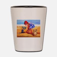 On The Beach Shot Glass
