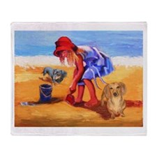 On The Beach Throw Blanket