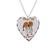 Doc Doxie Necklace Heart Charm