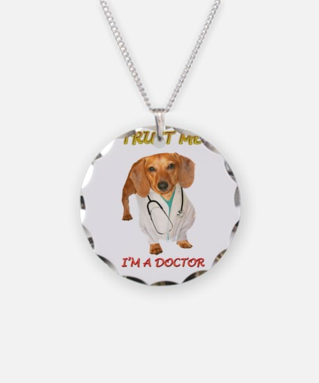 Doc Doxie Necklace Circle Charm