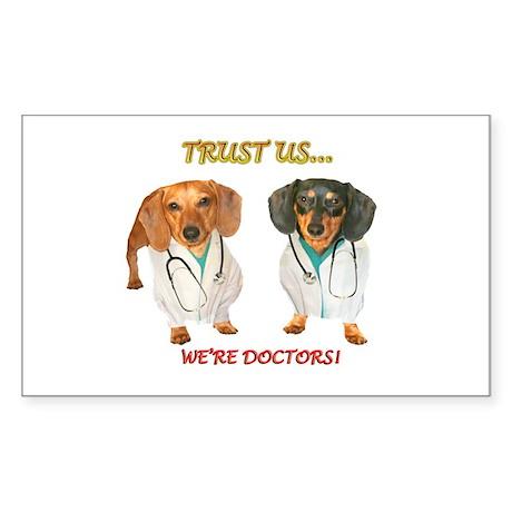 Doc Doxs Sticker (Rectangle 10 pk)