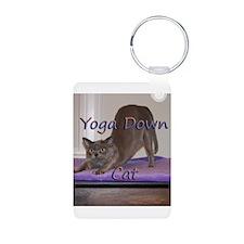 Yoga Down Cat Keychains