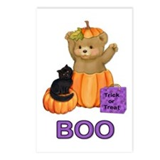 Halloween Boo Teddy Postcards (Package of 8)
