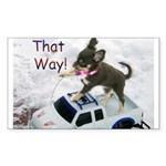 Chihuahua Trucker Sticker (Rectangle 10 pk)