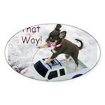 Chihuahua Trucker Sticker (Oval 10 pk)