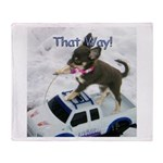 Chihuahua Trucker Throw Blanket